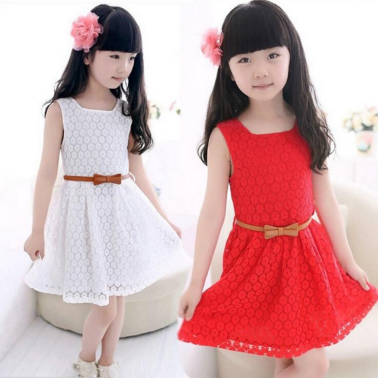 Summer Girls Dress Flower Girl Dresses Girls Frock Designs 2016 Vestido Vetement Fille Robe Fille Princess Fashion Kids Clothes