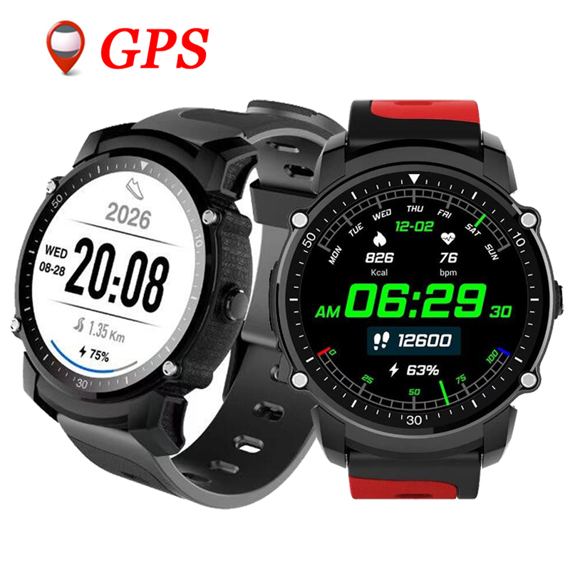 FS08 GPS Smart Watch MTK2503 IP68 Waterproof Bluetooth 4.0 Heart Rate Fitness Tracker Multi-mode Sports Monitoring Smartwatch