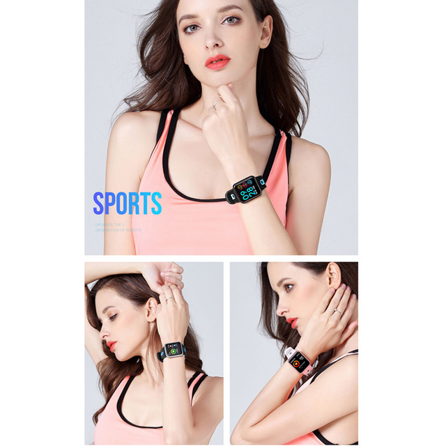 fitness bracelet watch P68 ip68 waterproof  for apple watch xiaomi  ios  Android with heart rate monitor smart band +earphone 2