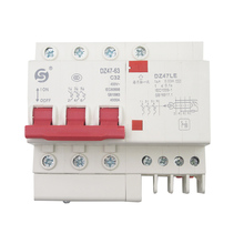 Leakage switch DZ47LE-63A, 1P+N2P air switch with protection open circuit breaker 3P4P abb breaker leakage protector leakage switch 1 p n 40 a master switch air switch