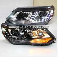 For VW Tiguan LED Head Lamp Projector Lens 2013 204