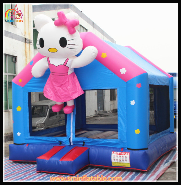 4.5x4.5m Funny Hello Kitty inflatable bouncer castle