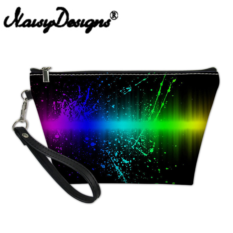Noisydesigns Cosmetic Makeup Functional Bag For Women Travel Bag Organizer Makeup Case Starlight Print Girls Toiletry Vanity Bag