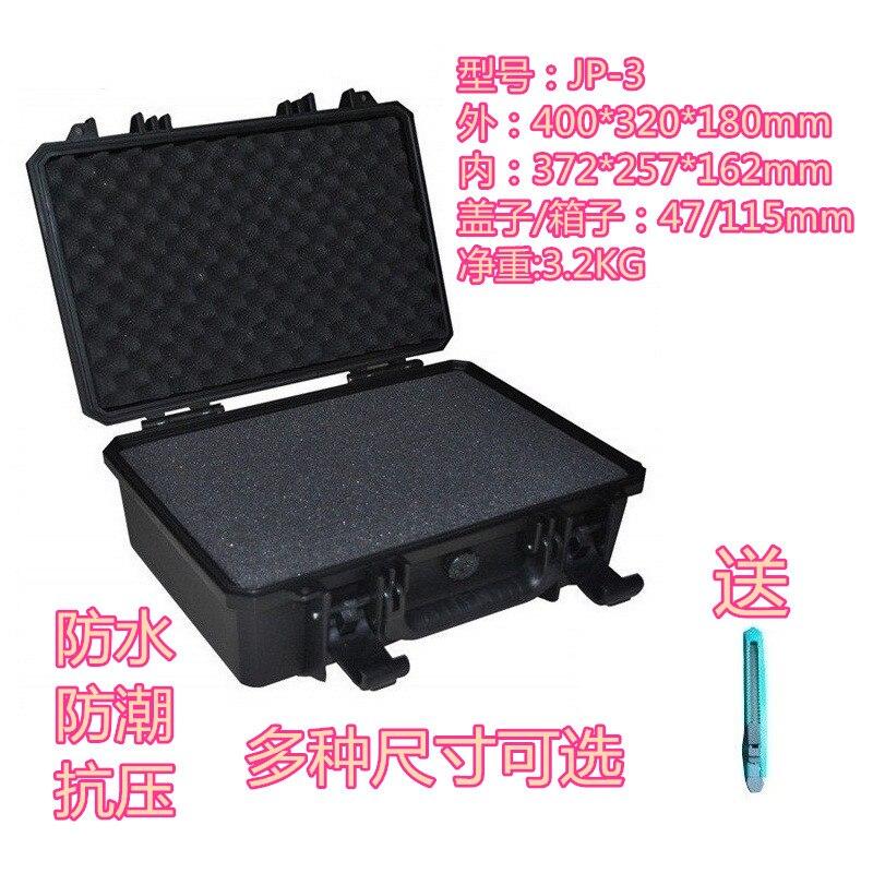 Įrankių dėklas, įrankių dėžės lagaminas, atsparus smūgiams, neperšlampamas apsauginis dėklas 372 * 257 * 162 mm Atsarginių dalių fotoaparato dėklas su putplasčiu