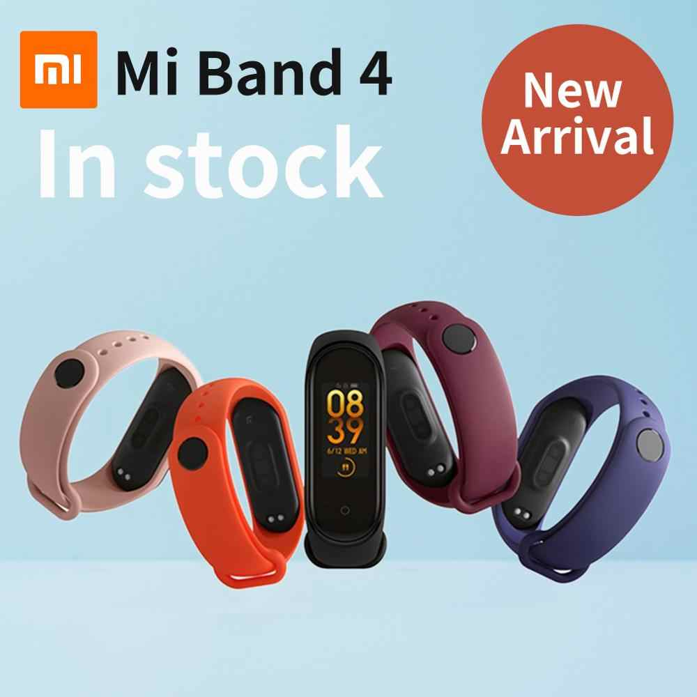 100% Original Xiaomi Mi Band 4 Newest Music Smart Band Miband 4 Bracelet Heart Rate Fitness 135mAh Color Screen Bluetooth 5.0