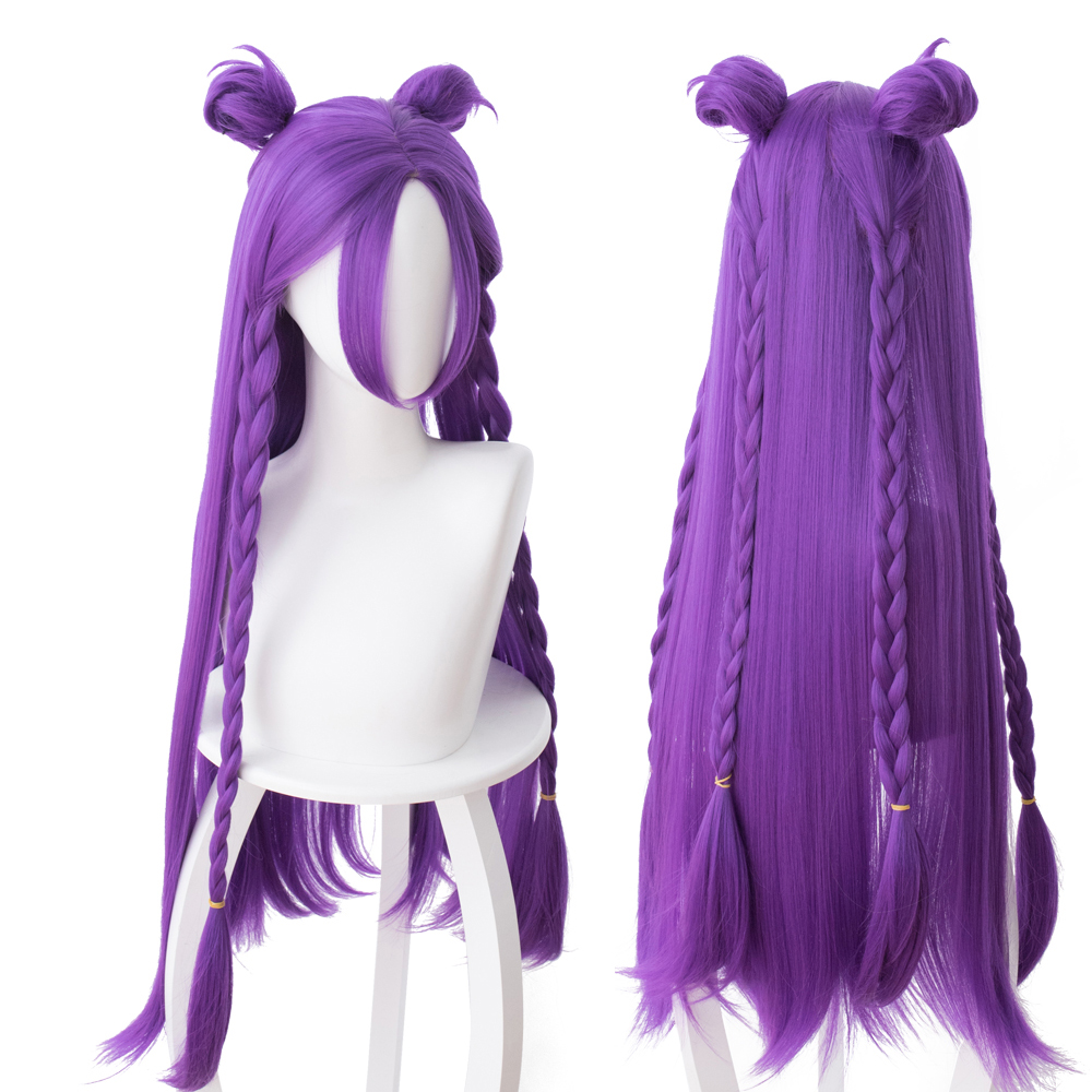 LOL KDA Kaisa Cosplay Wig Daughter of the Void Kaisa Wig Heat Resistant Synthetic Hair Wigs