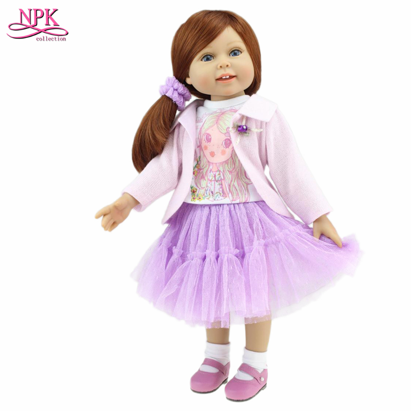 45 cm/18 Inch American Girl Doll Princess Doll, Cute Soft Plastic Reborn Dolls Babies Girl Doll for Kid's Birthday Puppet Gift multi colors 18 inch american girl doll fair skin princess doll cute soft plastic reborn dolls babies girl dolls for kid s gift
