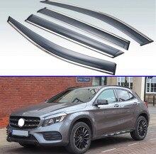 Para Mercedes-Benz GLA-clase GLA180 200, 220, 250, 2016-2019 Exterior de plástico visera ventilación tonos ventana protector de lluvia y sol Deflector 4 Uds