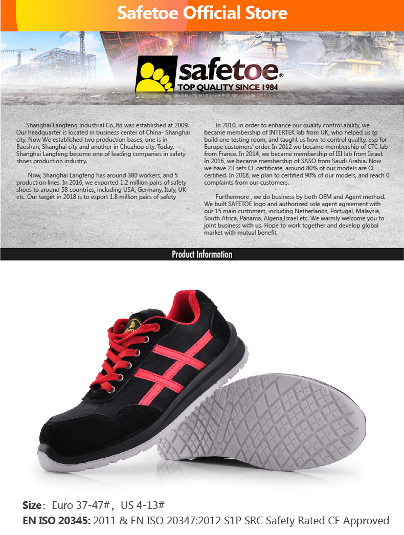 14974eebf3d8 Detail Feedback Questions about Safetoe Sports Work safety Shoes for ...