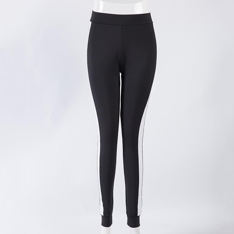 Legging Mulheres Skinny Calças Sexy Ladies Moda Preto Branco - Roupas femininas - Foto 4