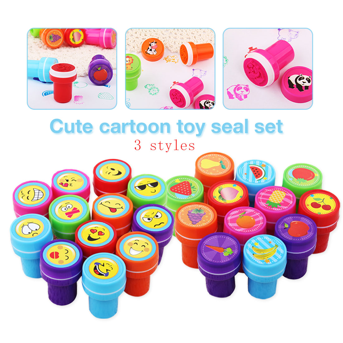 WOODEN LETTER STAMPS INK PAD ALPHABET GIRLS BOYS TOY BIRTHDAY PARTY BAG FILLER