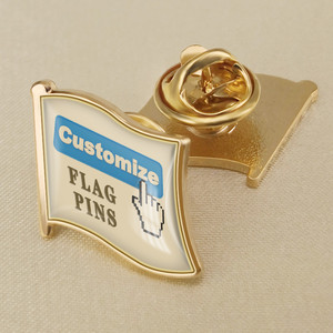 Customize Any Your Design Any Your Logo Any Single Round Rectangle Flag Lapel Pins