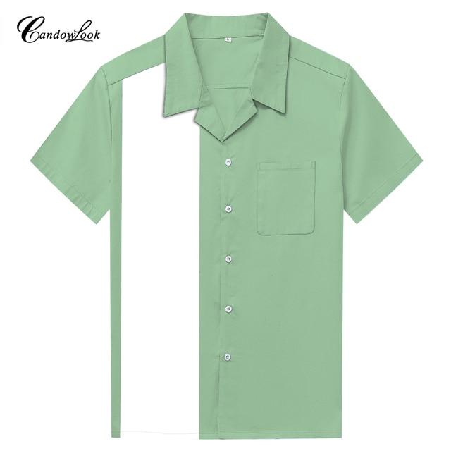 c0bbb0e175c Dropshipping Clothing Plain Pattern Hawaiian Shirt Mint Green Vintage  Design Retro Short Sleeve Shirts For Family Vacation