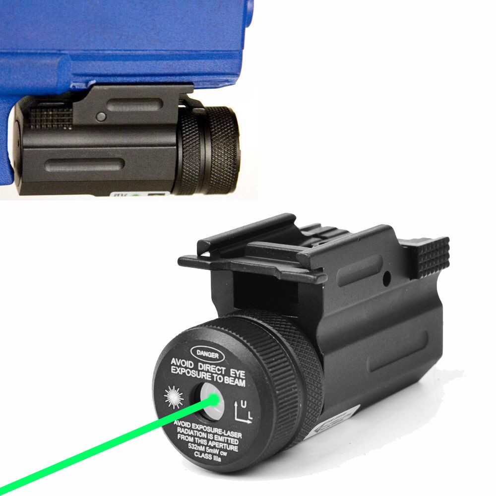 Tactical Green Dot Laser Sight 20mm Picatinny Rail QD Mount for Rifle Pistol 17 19 22 Springfield XD,XDM цена