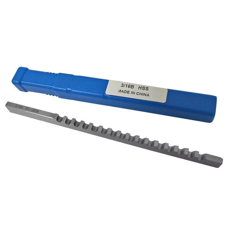 "3//16/"" C Push Type Keyway Broach 3//16 Inch Size HSS Cutter CNC Metalworking Tool"