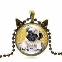 الرجعية بيان ريترو 3d الصلصال قلادة جوهرة قلادة قلادة القط الأذن الزجاج سحر هدية للنساء مجوهرات صالح سترة