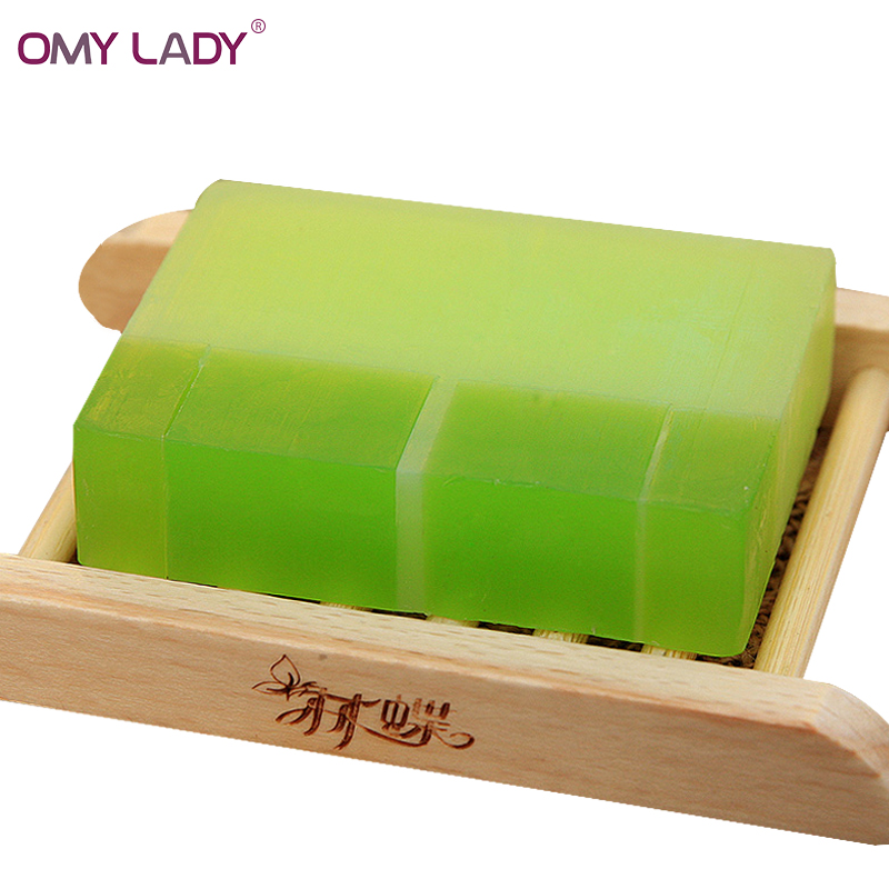 OMY LADY Pure Natural Plant Aloe Gel Handmade Soap acne treatment oil-control Moisturizing Essential Oil Soap free ship туфли vitacci vitacci vi060amvgq70