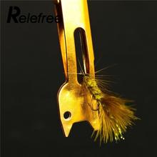 Relefree Tie Fast Knot Tying Tool Fly Fishing Line Tyer Gold Tackle Fish Accessories Equipment Outdoor Sports New Metal