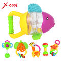xc8853 Baby Hand Shake Bell Ring Rattles newborn baby biting glue Teethers Toy intellectual development