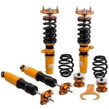 24 poziomów regulowany amortyzator Coilovers zawieszenie sprężynowe dla BMW E46 serii 3 320i 323i 325i 328i 330i M3 1998 2006