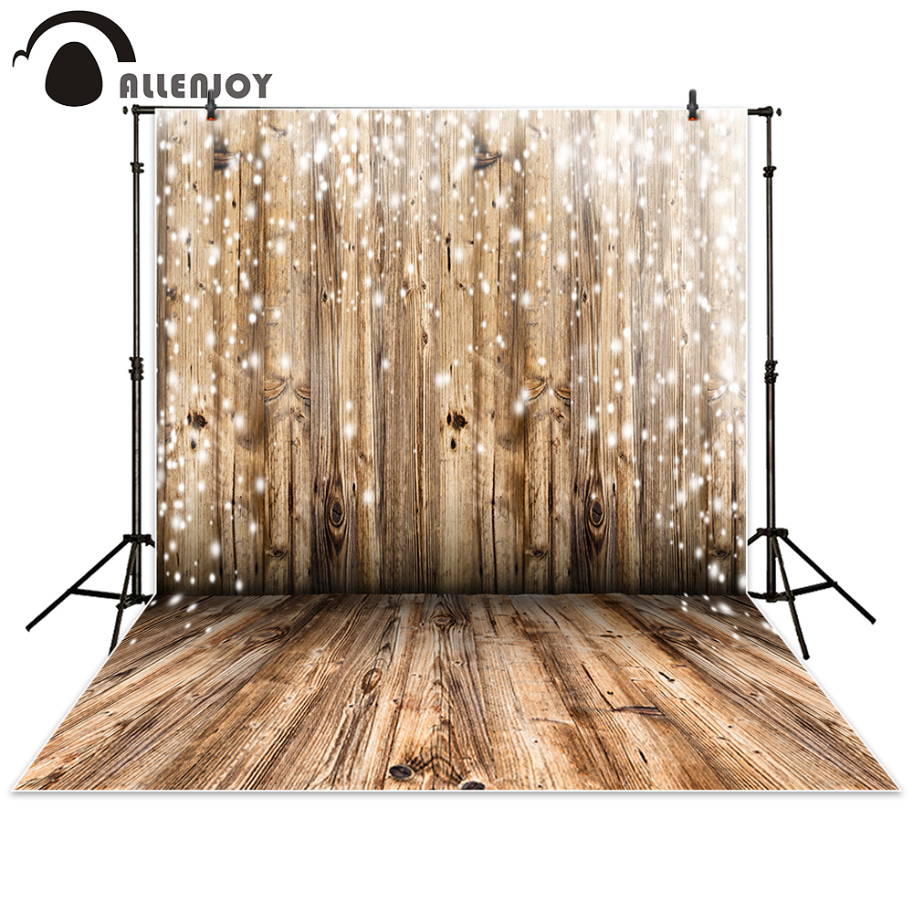 Allenjoy Photo Backdrop Holz Wand Boden Bokeh dot Neugeborenen Hintergründe Requisiten Neugeborenen Photobooth Fotostudio