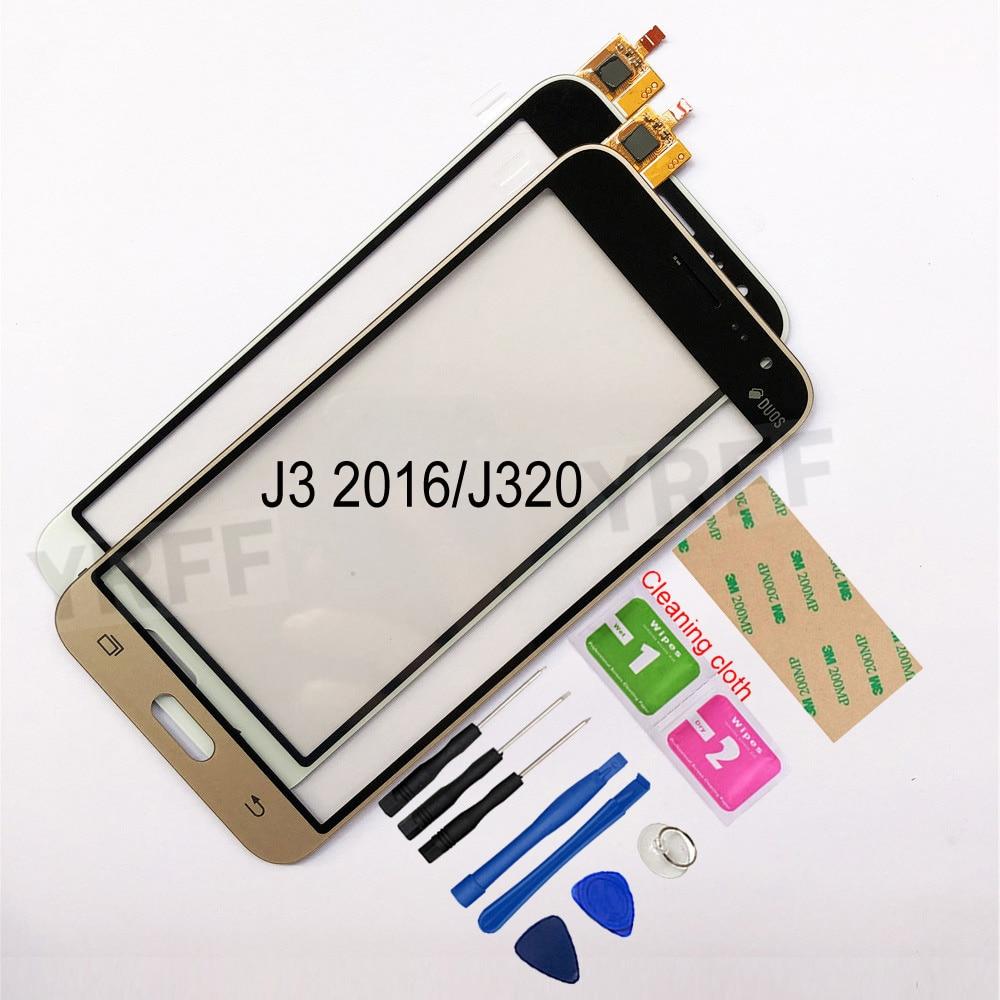 5.0 ''עבור Samsung Galaxy J3 2016 J320 J320F J320H J320M J320FN מגע מסך Digitizer חיישן מגע זכוכית עדשת פנל