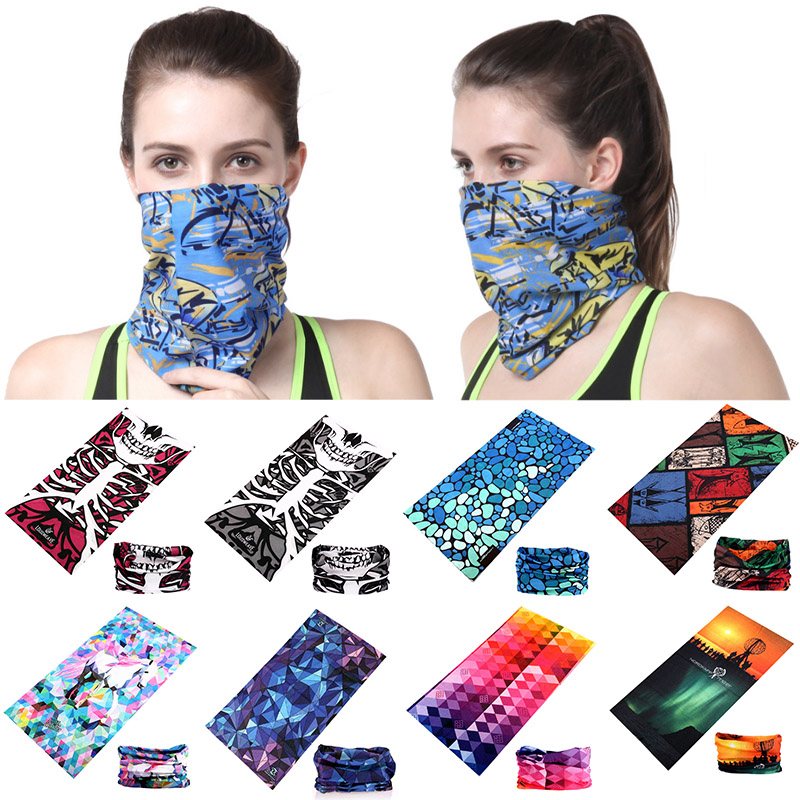 Unisex Women Men Multicolor Magic Head Face Mask Neck Gaiter Snood Headwear Motorcycle Cycling Tube Scarf Headband