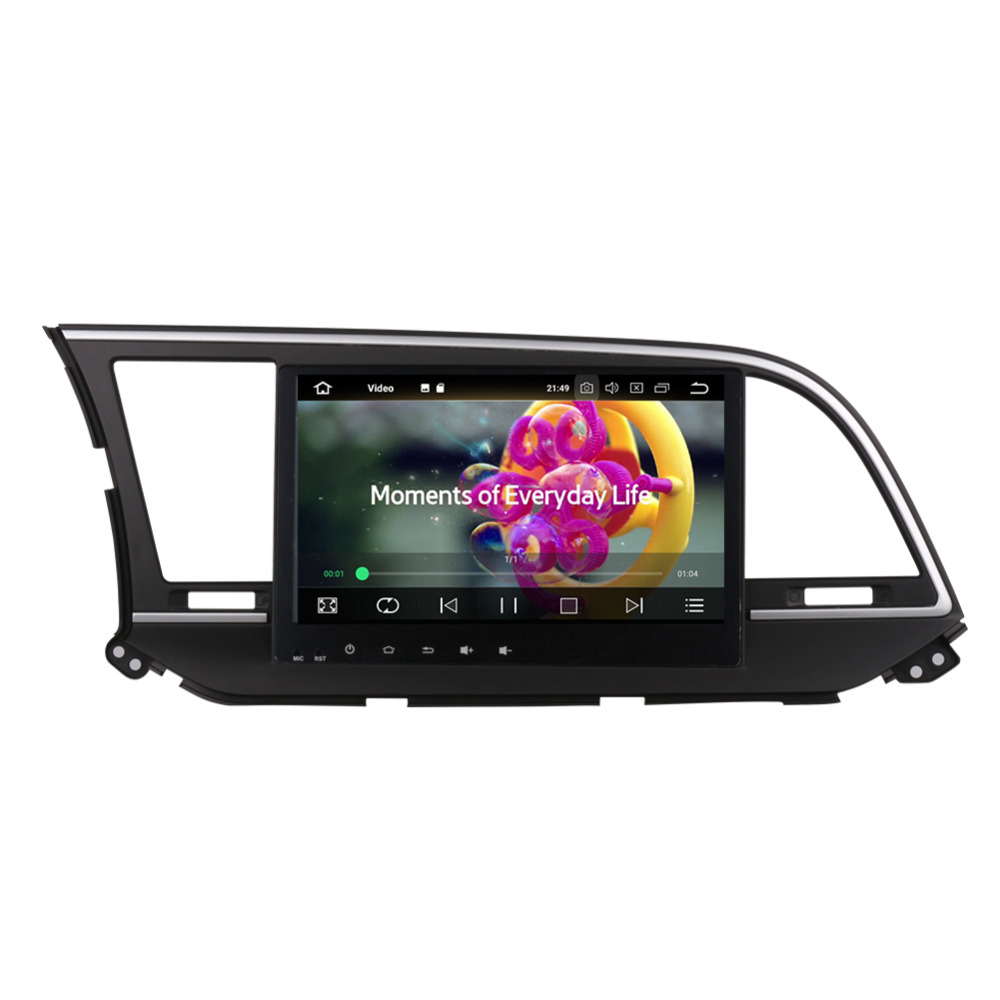 10.1 Inch Android Octa Core 4gb Ram Ips Screen Car Gps Radio Head Unit With Bluetooth For Hyundai Elantra 2016- Car Stereo Wifi Cheap Sales 50%