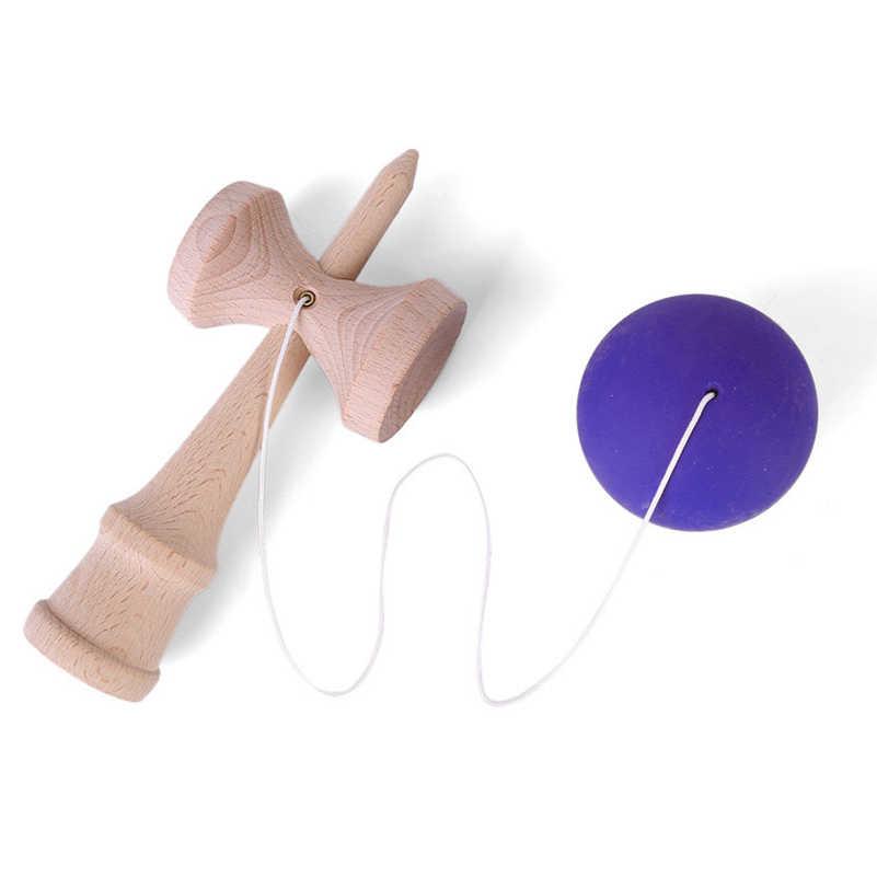 1 ชิ้น Professional สีไม้ฝีมือ Kendama PU สี Jumbo Kendama กลางแจ้ง Juggle เกมของเล่นสำหรับของขวัญ