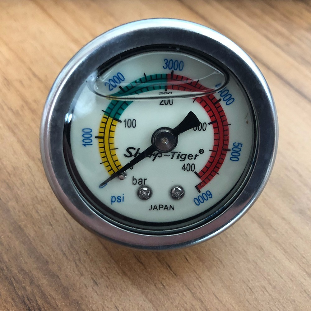 Pressure Gauge For 4500psi 300bar 30mpa 3 Stage Hand Operated PCP Pump