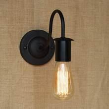 Aplique de pared de hierro negro Retro/lámpara de estilo europeo y americano Simplicity, sala de estar decorativa para lámpara de pared, pasillo y cabecera