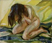 Female nude kneeling Edvard Munch painting for bedroom decoration High quality