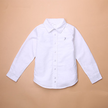 Brand  Hot Sale Children Boys Shirts Cotton Solid Kids Shirts Clothing For 6M-12 Years Wear YF9