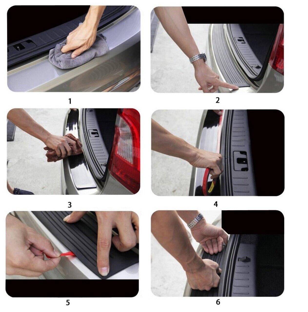 Image 3 - Car Styling Rear Bumper Scuff Cover Sticker For Mazda 3 5 Atenza CX 4 CX 5 CX 7 CX 9 Seat Toledo 4 Leon Ateca Arona Accessories-in Car Tax Disc Holders from Automobiles & Motorcycles