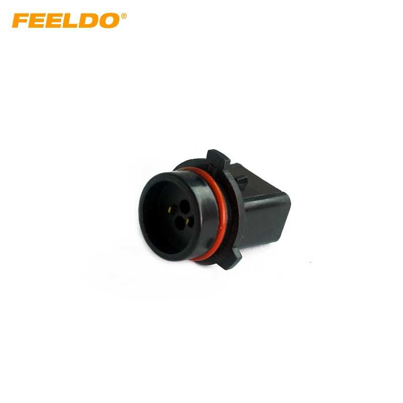 FEELDO 1pc Car P13W LED Bulb Socket Fog Daytime Running Light Harness Wire Plug Connector #HQ1117