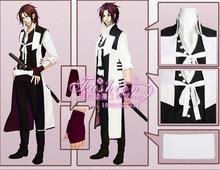 Anime Hakuouki Harada Sanosuke Cosplay Costume coat+shirt+vest+pant+belt set