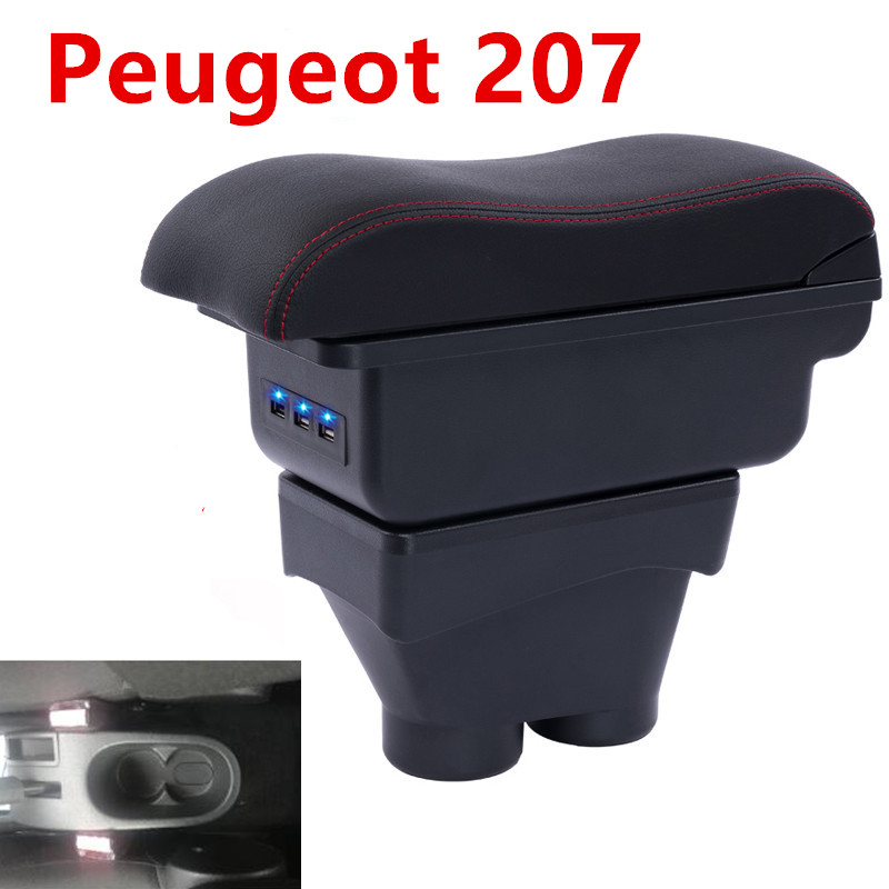 For peugeot 207 Armrest Box Car Central Armrest Storage Box accessories