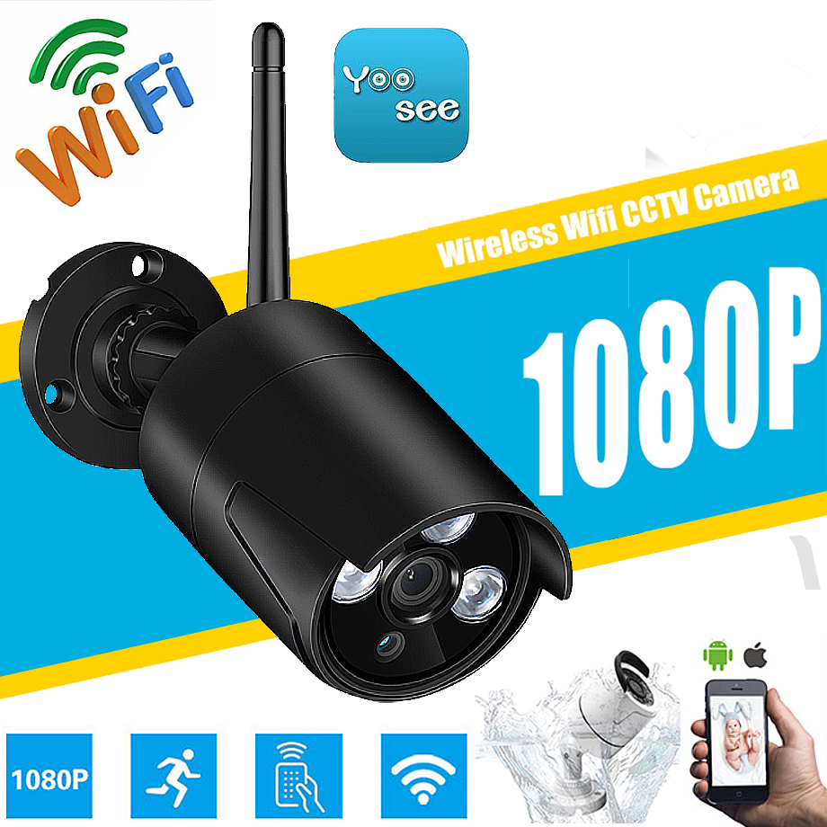 HD Wifi Outdoor IP Camera 1080P Waterproof 2.0MP Wireless Security Camera Metal 3PCS ARRAY SD Card Record Bullet P2P Yoosee app цена