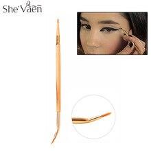 2018 Pro Double Ended Bamboo Liner Brush Angled Tip Precision Eyeliner Lip Gel Cream multi purpose Brushes Tool 1PCS