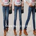 New Vintage Wash Women's Denim Jeans,Plus Size Popular Casual Denim Pants Joker style.Free shipping QQ8062