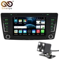 Sinairyu2 Din 8 Núcleo RAM 2 GB Android 6.0 DVD Do GPS Do Carro Do Carro para Skoda Octavia Superb Fabia Yeti A5 2008-2014 Rádio Estéreo Tablet PC