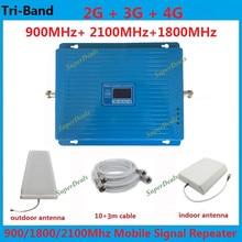 2G 3G 4G GSM 900 DCS 1800 3G WCDMA 2100 MHz Teléfono Celular Móvil de triple Banda Celular Amplificador de Señal Amplificador de Señal de Red repetidor