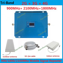2G 3G 4G GSM 900 DCS 1800 3G WCDMA 2100 MHz Tri-band Handy Handy Mobilfunknetz Signal Booster Verstärker Signal Repeater