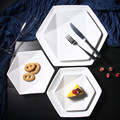 2 PCS Creative Plate White Ceramic Tableware Steak Dish Fruit Dessert Plate Western-style Food Steak Plate