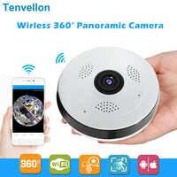 360 Degree Wi-fi IP Camera FishEye HD 960P 1.3MP Smart Panoramic IPC P2P Wireless IP Fisheye Camera 1.3MP Security Wifi Camera