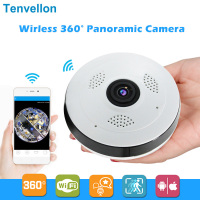 360 Degree Wi fi IP Camera FishEye HD 960P 1.3MP Smart Panoramic IPC P2P Wireless IP Fisheye Camera 1.3MP Security Wifi Camera