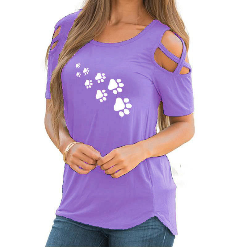 T-Shirt-Women-Clothes-2018-Casual-Off-Shoulder-Cat-Footprints-Print-Loose-Tops-Short-Sleeve-O-Neck-Tee-Shirt-Summer-Plus-Size-(13)