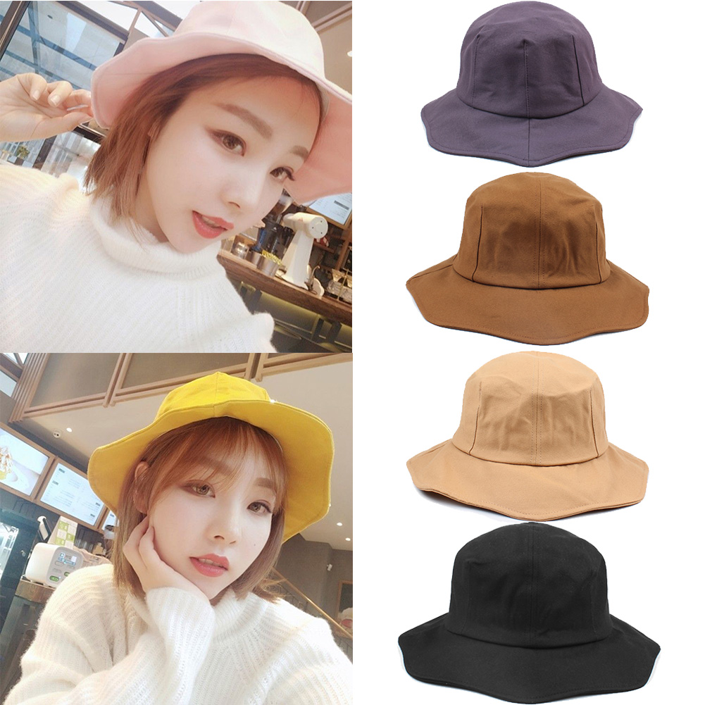 86c9ba7b5cee0e Anself Summer Female Hat Fashion Men Women Bucket Hat Caps Fisherman Sun  Visor Floppy Cap Wide Brim Foldable Sun Proof Hats 2019-in Sun Hats from  Apparel ...