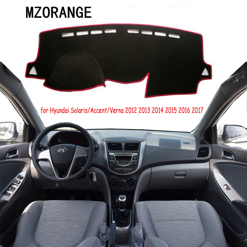 Dashboard Cover For Hyundai Solaris For Hyundai Accent Verna 2012-2017 Dash Mat Dash Cover Pad Sun Shade Dash Board Cover Mats