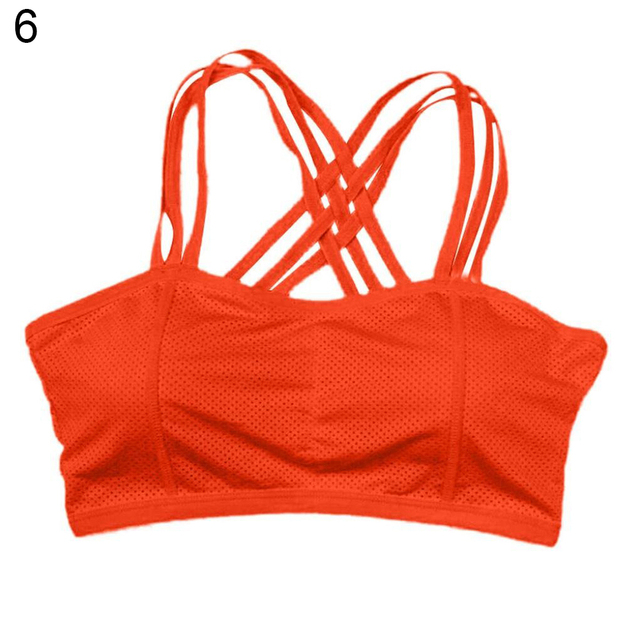9b22a40e1 Cotton Blend Sexy Pull Up Sports Bra Solid Color Bustier Vest Gym Running  Yoga Workout Athletic Top